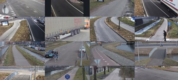 Testbeelden van de camera's op Halfweg-Molenwatering